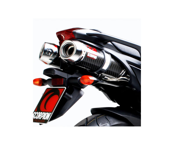 Scorpion Red Power Series Exhaust for FZ6 04-09 - SoloMotoParts.com