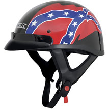 AFX FX-70 Beanie Rebel Helmet Black/Red/Blue