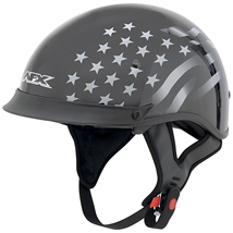 AFX FX-72 Single Inner Lens Beanie Stealth Helmet Black/White