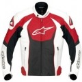 Alpinestars GP-R Perforated Leather Jacket White/Red/Black