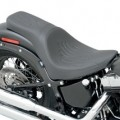 Drag Specialties Predator 2-Up Seat (Flame Stitch) for FXS 11-13