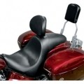 Danny Gray Short Hop 2-UP XL Seat (Plain) w/ Driver�s Backrest Receptacle for XVS1100 V-Star Classic 00-09 (Closeout)