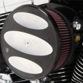 """Arlen Ness """"Billet Sucker"""" Air Cleaner Assembly Stage II Kits Scalloped Black/Raw for FLHR 08-12"""