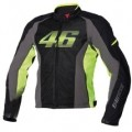 Dainese VR46 Air Textile Jacket Black/Yellow-Fluo