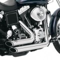 Vance & Hines Shortshots Staggered Full Exhaust System Chrome for Dyna Glide 91-05