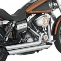 Drag Specialties Staggered Duals Exhaust System for Dyna Models 06-11 (Closeout)