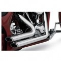 Vance & Hines Shortshots Staggered Full Exhaust System Chrome for FLST 86-11