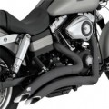 Vance & Hines Big Radius Full Exhaust System Black for Dyna 06-11