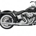 Bassani Road Rage 2-Into-1 Exhaust System (Chrome, Long Meg) for FXS 86-13