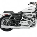 Bassani Road Rage 2-Into-1 Exhaust System (Chrome, Long Meg) for XL 04-13