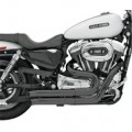 Bassani Firepower Series Exhaust (FireSweep, Black) for XL 04-13