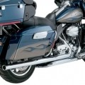 Vance & Hines Big Shot Duals Full Exhaust System Chrome for FLHX 10-14