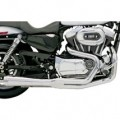 Bassani Road Rage 2-Into-1 Exhaust System (Chrome, Short Upswept Meg) for XL 86-03