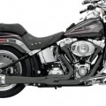 Bassani Road Rage 2-Into-1 Exhaust System (Black, Short Meg) for FXS 86-13