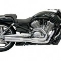 Bassani Road Rage II B1 Power Exhaust System (Chrome) for VRSCDX 07-13