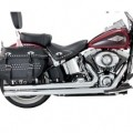 Vance & Hines Big Shots Long w/ Straight-Cut End Caps Full Exhaust System Chrome for FLS 12-14