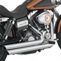 Drag Specialties Staggered Duals Exhaust Systems for Dyna 12-13