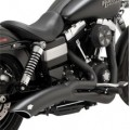 Vance & Hines Big Radius 2-Into-1 Full Exhaust System Black for FXDWG/I 12-13