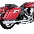 Vance & Hines Switchback Duals Full Exhaust System w/ Twin Slash Slip-on Mufflers for FLD 12-14