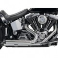 Bassani Pro-Street Exhaust System (Straight-Cut, Chrome) for FXS 86-13