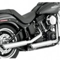 "Vance & Hines 3"" Round Twin Slash Slip-On Exhaust for FLSTSE 10-12"