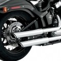 "Vance & Hines 3"" Round Twin Slash Slip-On Exhaust for FLSTSB 08-11"