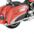 "Vance & Hines 4"" Classic Turn Down Slip-on Mufflers for FLHX 95-14"