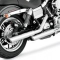 "Vance & Hines 3"" Round Twin Slash Slip-On Exhaust for FXDF 08-16"