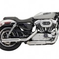 "Bassani 3"" Firepower Series Slip-On Muffler (Slash-Cut) for XL 04-13"