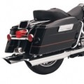 "Bassani 4"" Slip-On Muffler (Scalloped Slash Cut, Chrome) w/ 2 1/2"" Performance Baffle for FLTR 95-13"