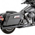 Vance & Hines Power Duals Header Full Exhaust System Black for FLHT 10-14