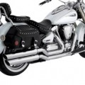 Vance & Hines Big Shots Staggered Exhaust for XV1600 Roadstar 99-03