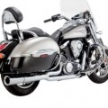 Vance & Hines Pro Pipe Chrome Exhaust for VN1700 Nomad/Vaquero/Voyager 09-14