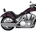 Vance & Hines Twin Slash Power Chamber Exhaust for VT1300CS 09-14