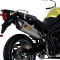 Akrapovic Slip-On Exhaust for Tiger 800XC 11-14