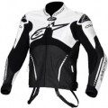 Alpinestars Atem Leather Jacket Black/White