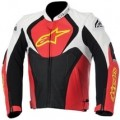 Alpinestars Jaws Perforated Leather Jacket White/Red/Yellow