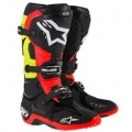 Alpinestars Men's Tech 10 Boots Black/Red/Yellow