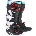 Alpinestars Men's Tech 7 Boots Cyan/Black/Red