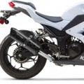 Two Brothers M2 Black Full Exhaust for Ninja 300 13