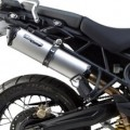 Two Brothers M2 Black Slip-On Exhaust for Tiger 800 11-16