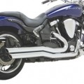 Vance & Hines Big Shots Staggered Exhaust for XV1700 Road Star Warrior 02-09