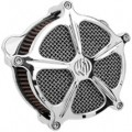 Roland Sands Design Venturi Air Cleaner Speed 5, Chrome for FXD/I 00-09