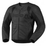Icon Men's Overlord Leather Jacket Stealth