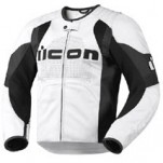 Icon Men's Overlord Leather Jacket White (Closeout)