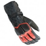 Joe Rocket Men's Highside 2.0 Leather Gloves Red/Black