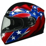 AFX FX-90 Rebel Helmet Black/Red/Blue