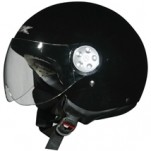 AFX FX-42 Pilot Scooter/Motorcycle Solid Helmet Black