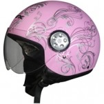 AFX FX-42 Pilot Scooter/Motorcycle Vine Helmet Flat Pink/Silver (Closeout)