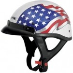 AFX FX-70 Beanie Flag Helmet White/Red/Blue